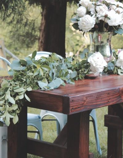 freedom farm table rental sweetheart table with metal white chairs