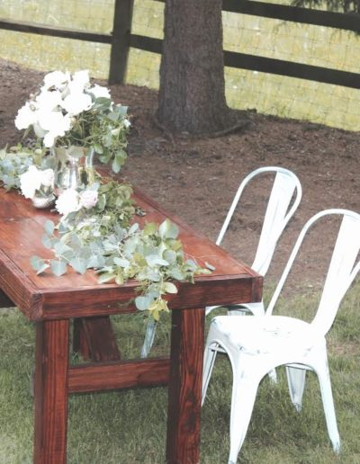 Freedom Farm Table Rental Sweetheart With Metal Distressed White Chairs