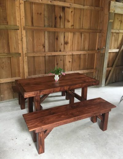 Freedom Farm Tables Farmhouse Rentals Sweetheart Table Bench Benches  Matching