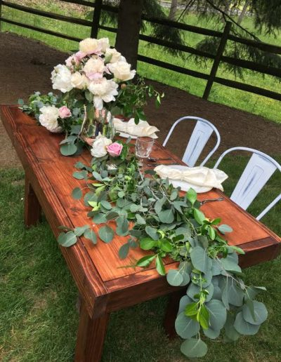 freedom farm tables sweetheart table