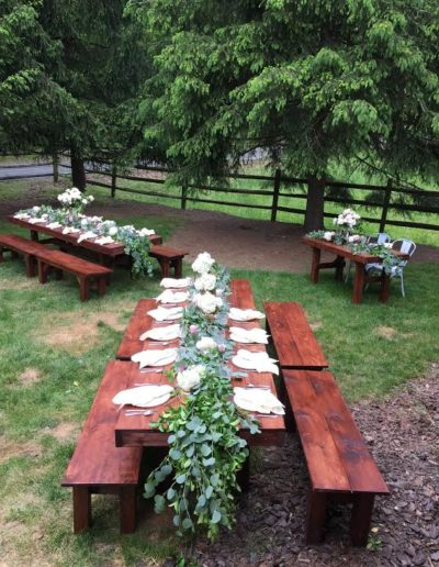 freedom farm tables wedding rental