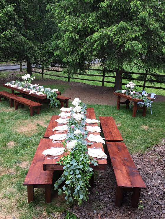 2017 Freedom Farm Table and Matching Bench for rent
