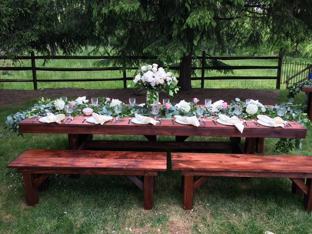 Farm Style Table Amp Bench Rentals In Lancaster Pa Amp De Md